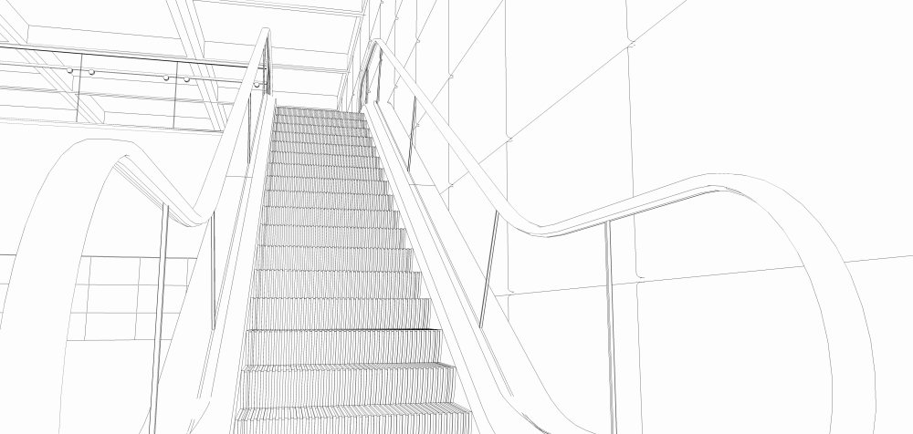 Ride the escalator